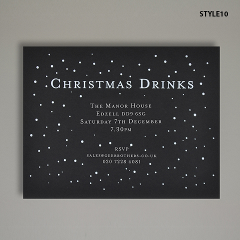 Christmas Drinks - Christmas Invitations