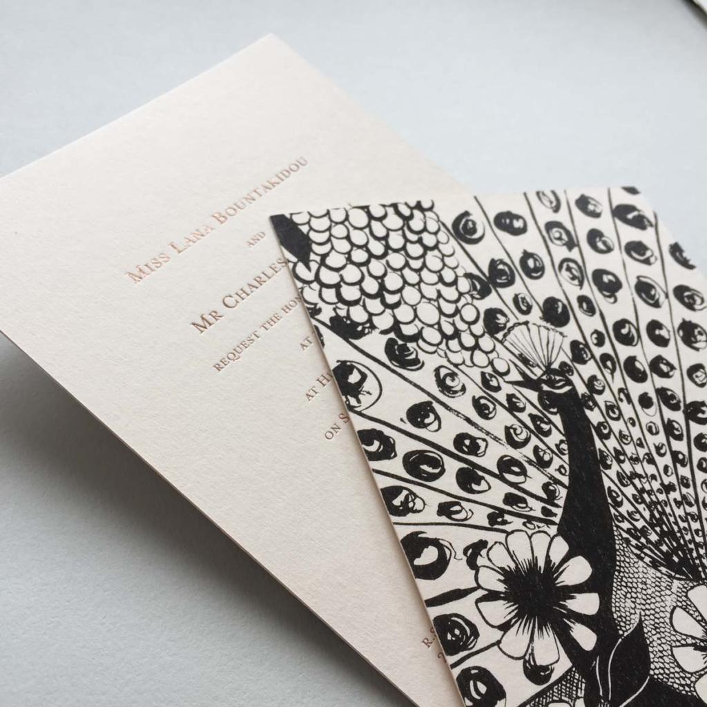 Reverse printed Wedding Invitations