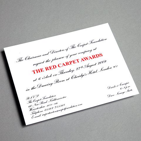awards invitations