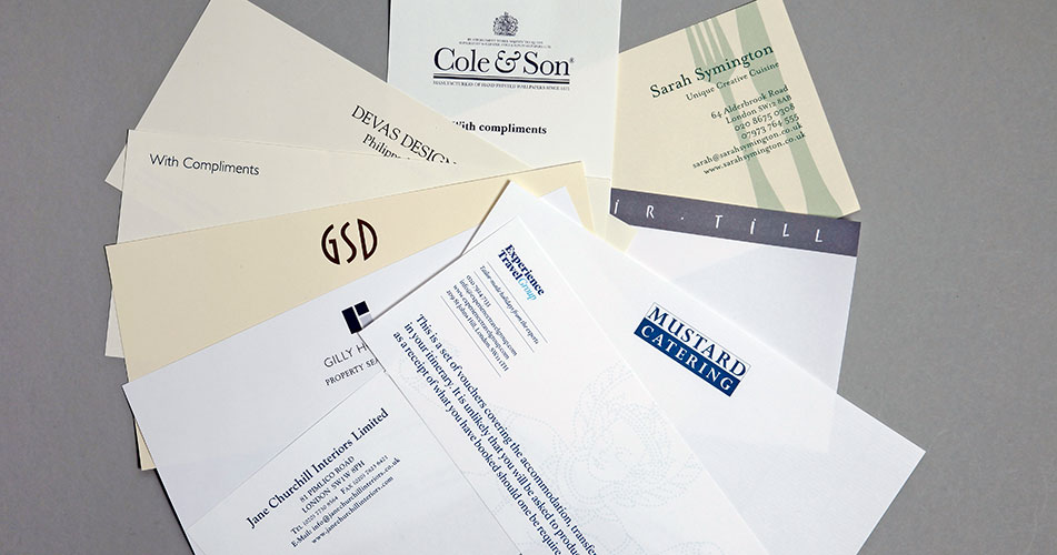 Personalised your stationery luxury Compliments Slips
