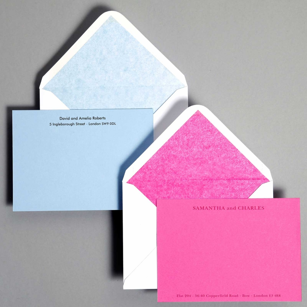 Personal Stationery Lined Envelopes