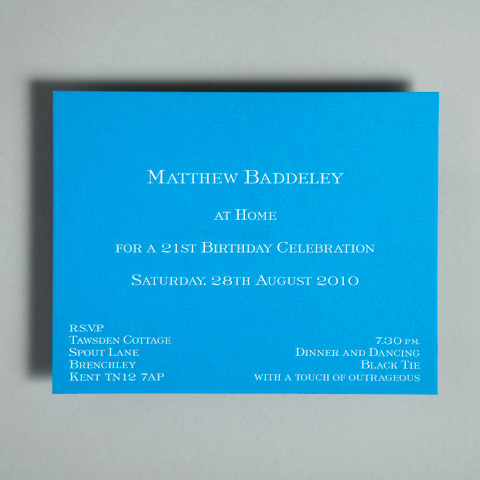 Bespoke At Homes Invitations