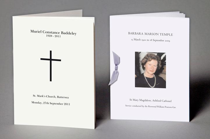 Bespoke funerals and memorials for Funeral service sheet template
