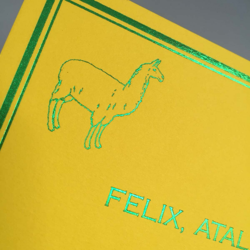 green foil on yellow party