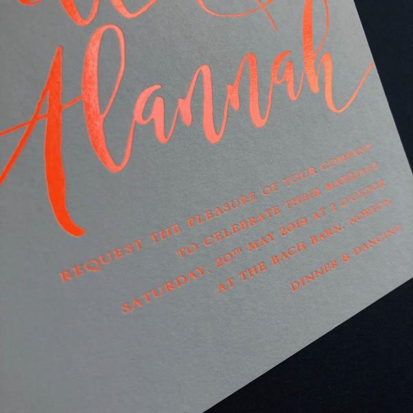 Alannah wedding invitation