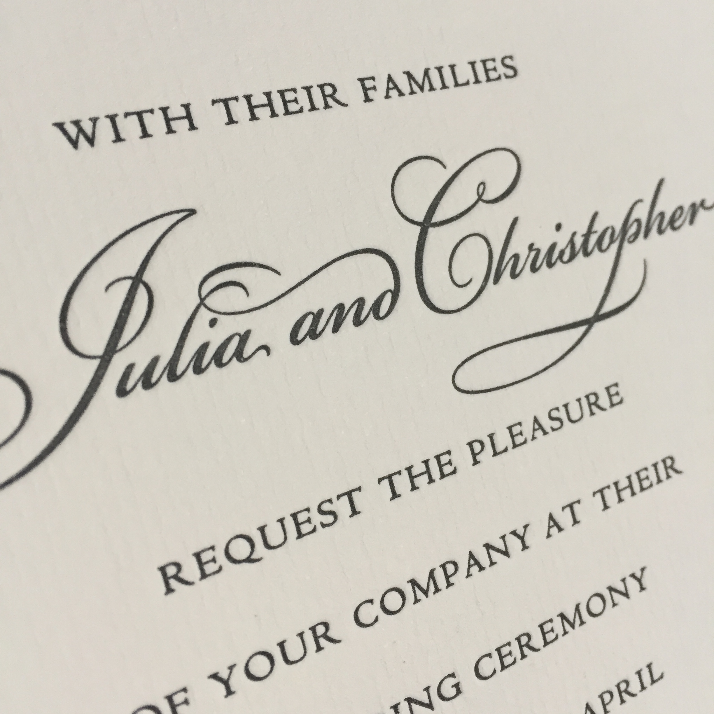 Julia wedding invitation