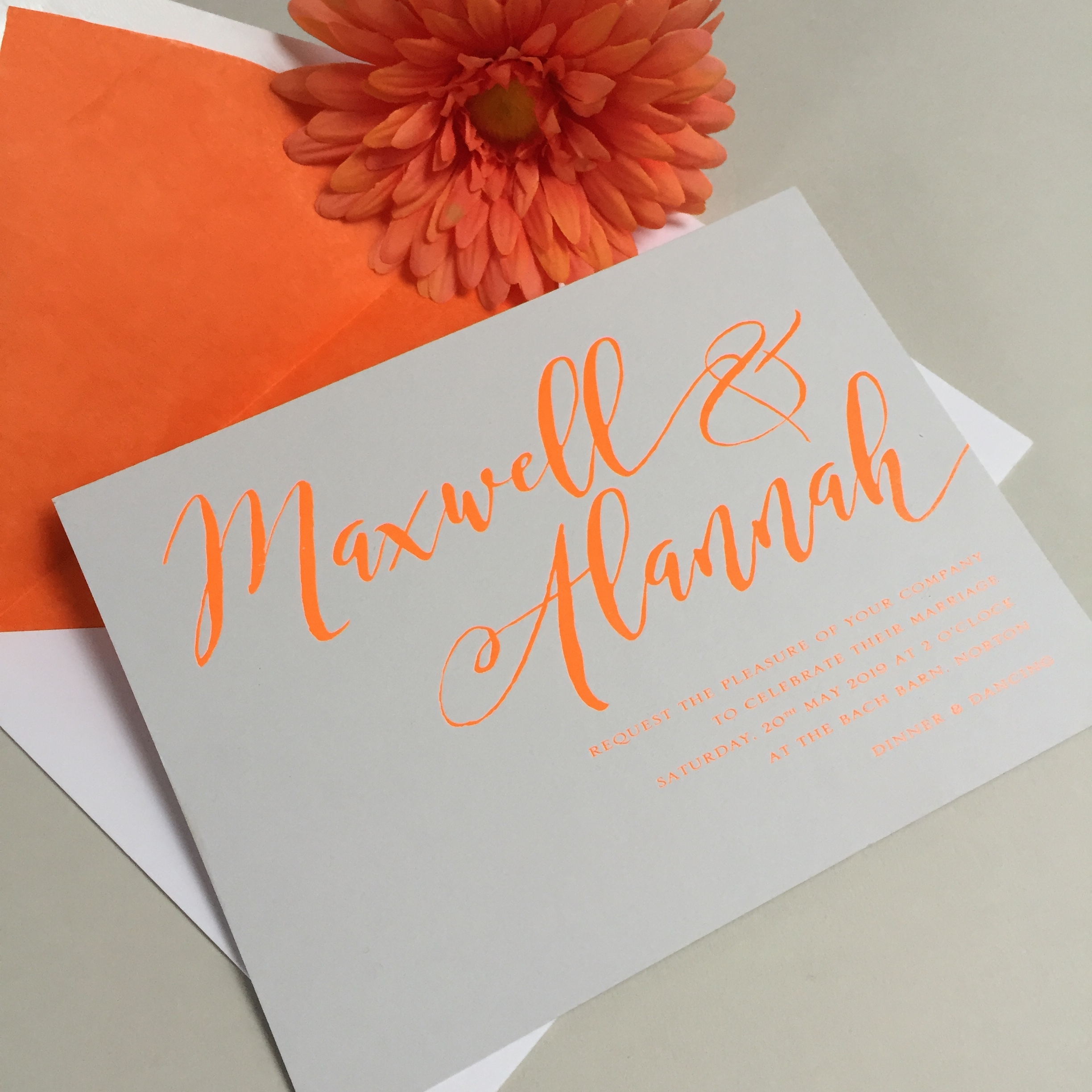 Alannah wedding invitation