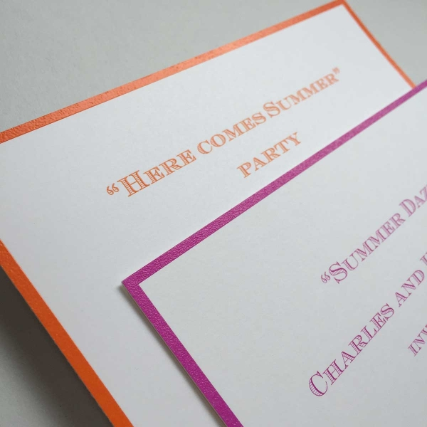 Bordered Invitations
