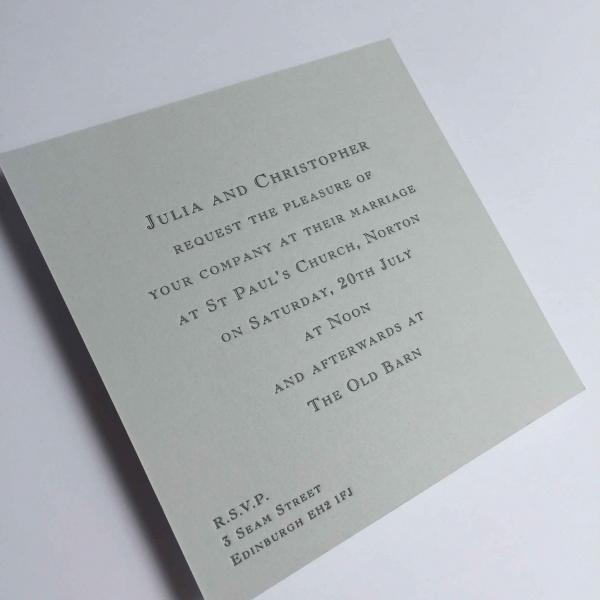 Julia Grey Wedding Invitations