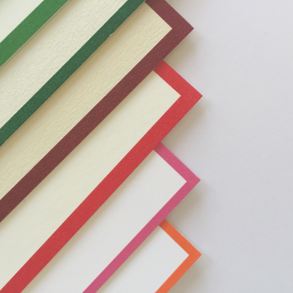 bordered correspondence cards colours 1
