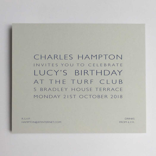 grey party invitations