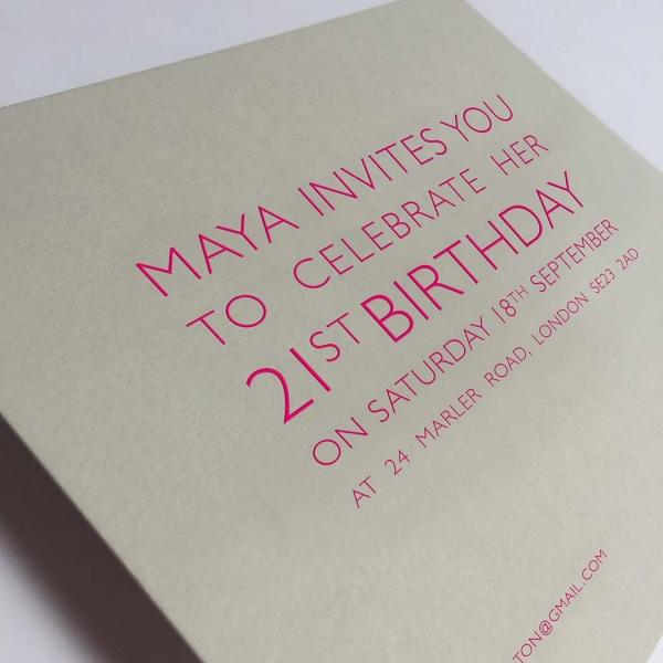 grey party invitations