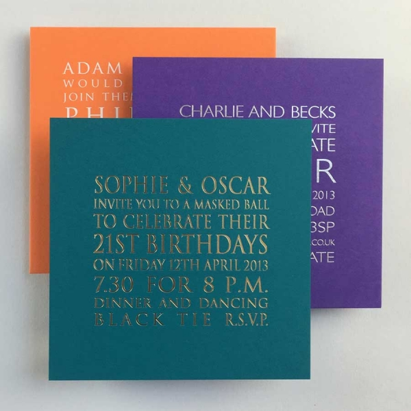 Foiled Party Invitations