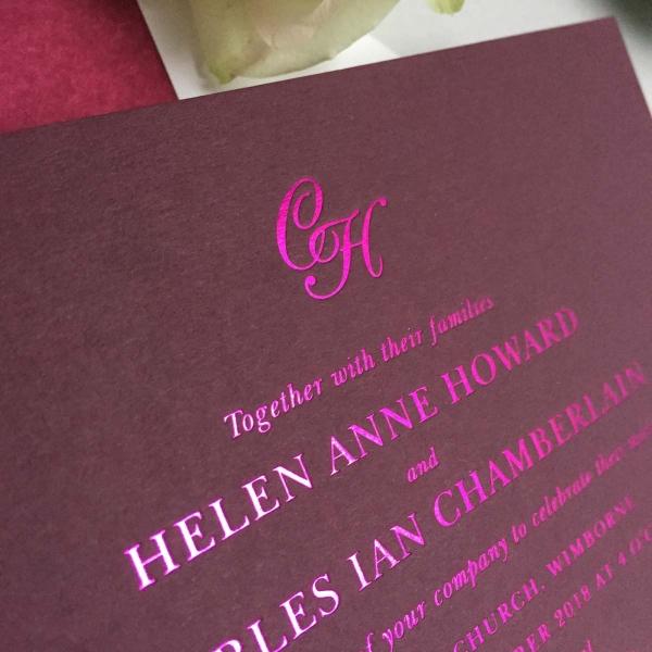 Helen pink wedding invitations