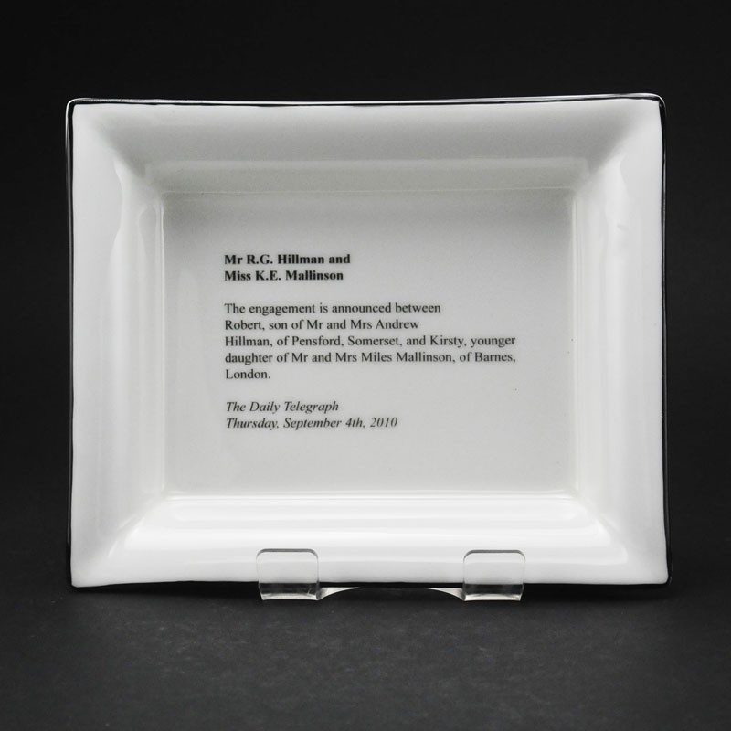 Small Rectangular China Dish