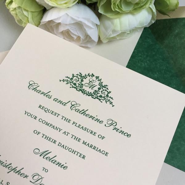 melanie wedding invitations