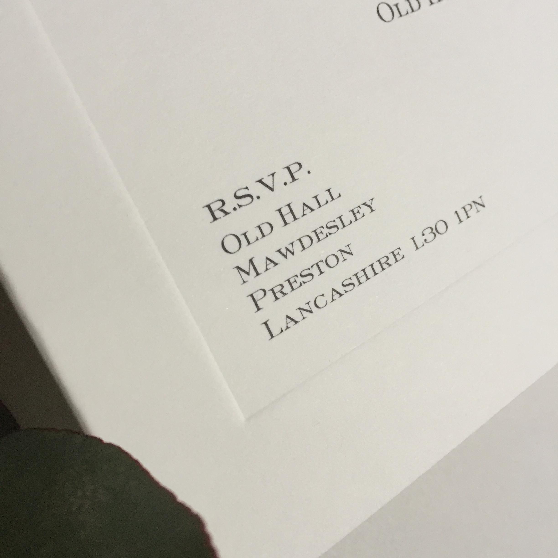 Parker Wedding Invitation