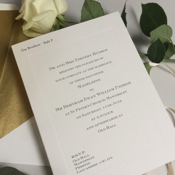 Parker Wedding Invitations