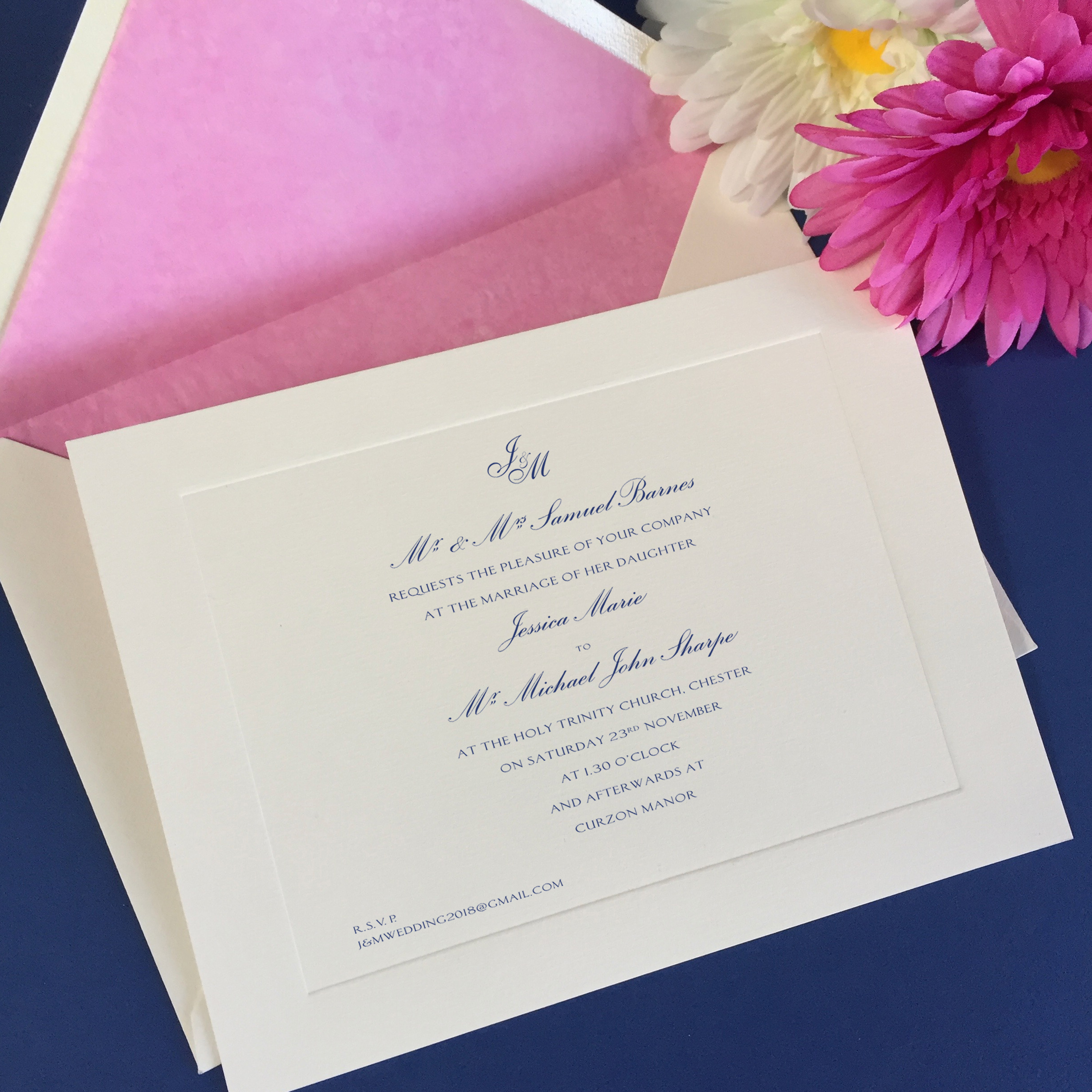 Jessica wedding invitation