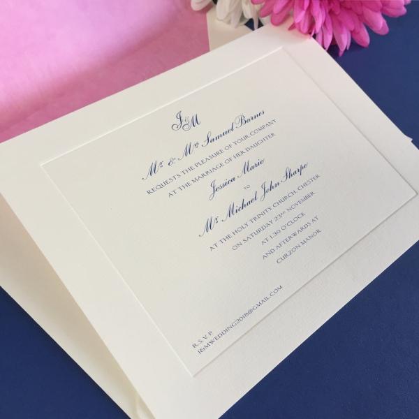 jessica wedding invitation