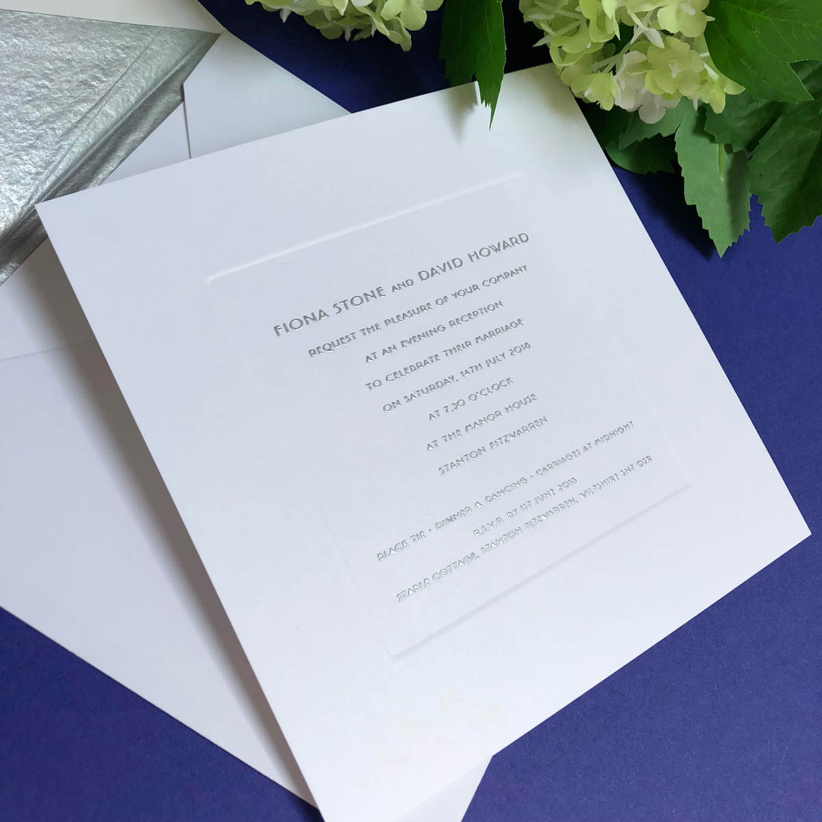 bond street wedding invitations