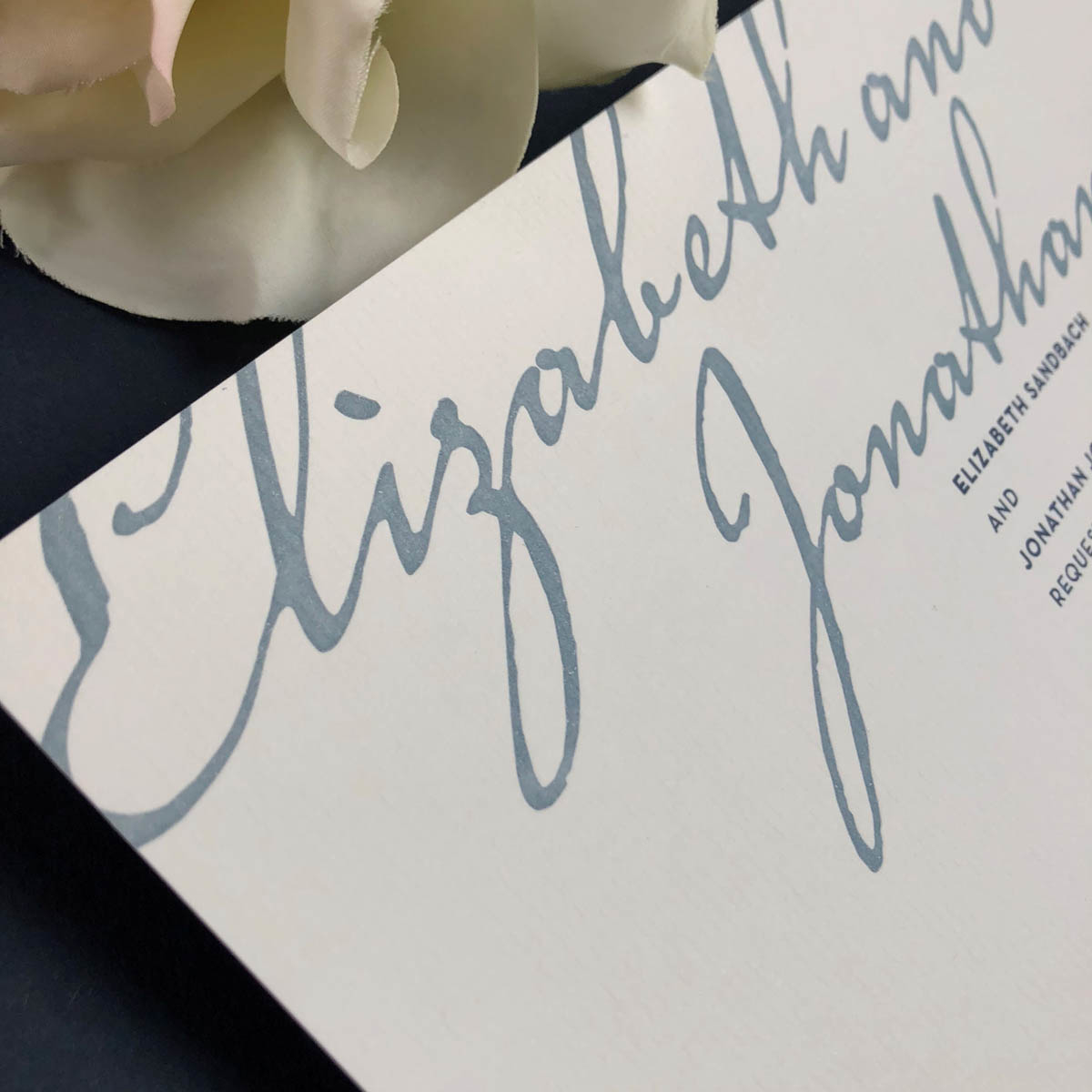 rohan grey wedding invitation