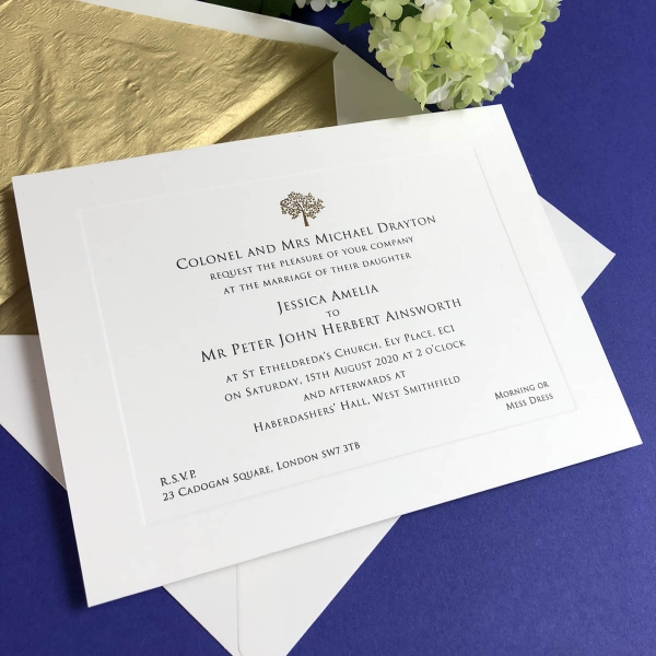 Barclay wedding invitations