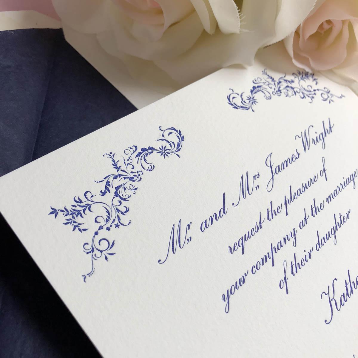 Radnor wedding invitations