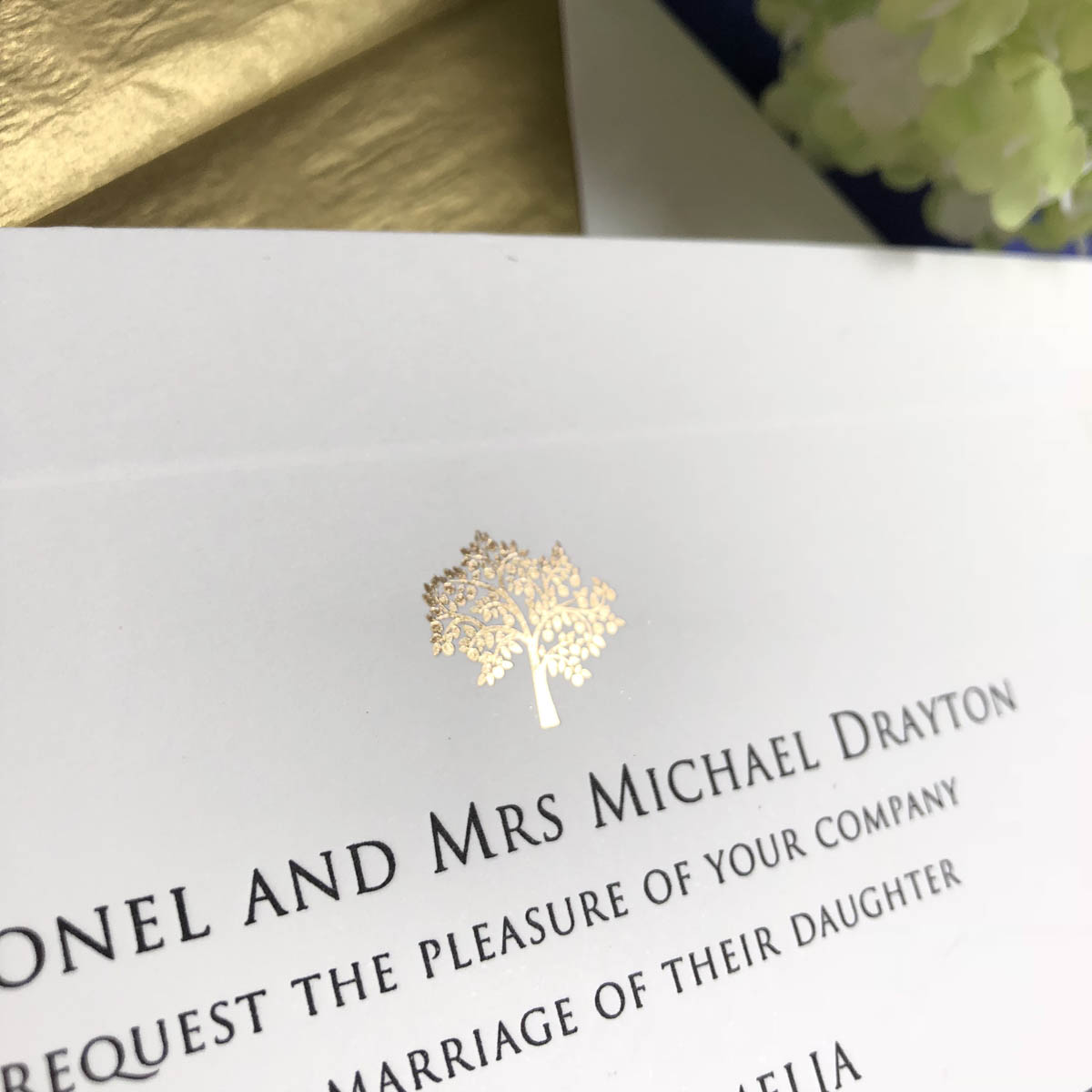 Barclay wedding invitation