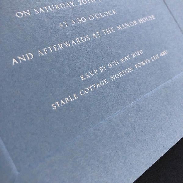 Prestbury wedding invitation
