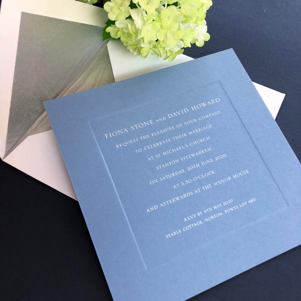 Prestbury wedding invitation