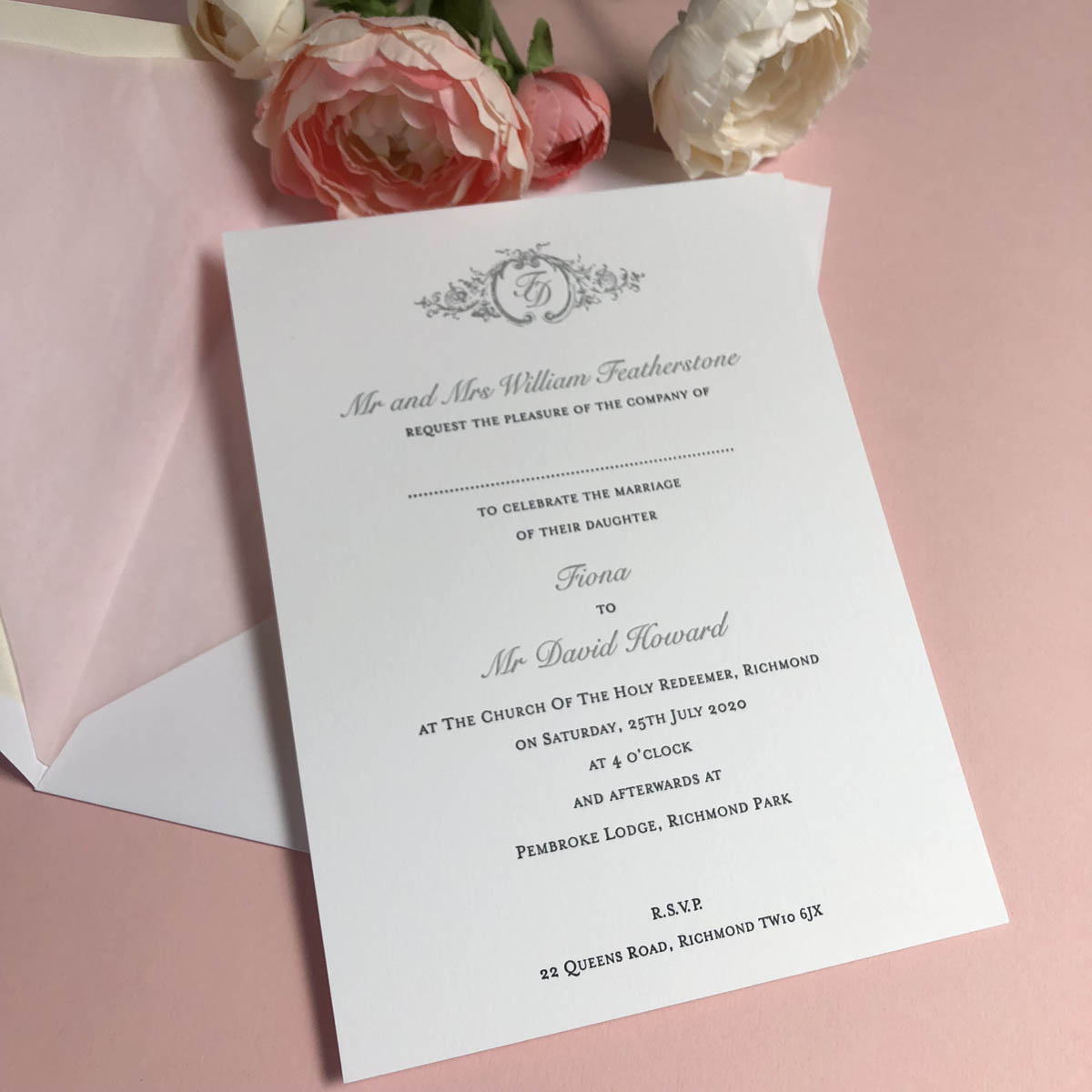 Seren wedding invitation