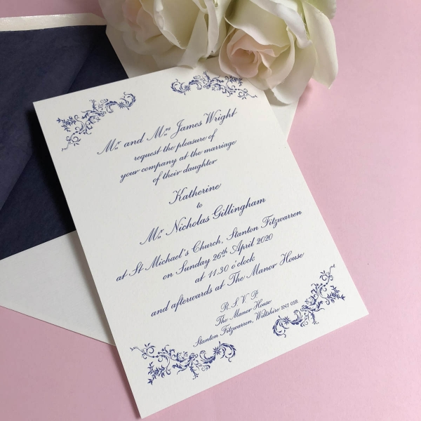 Radnor wedding invitations