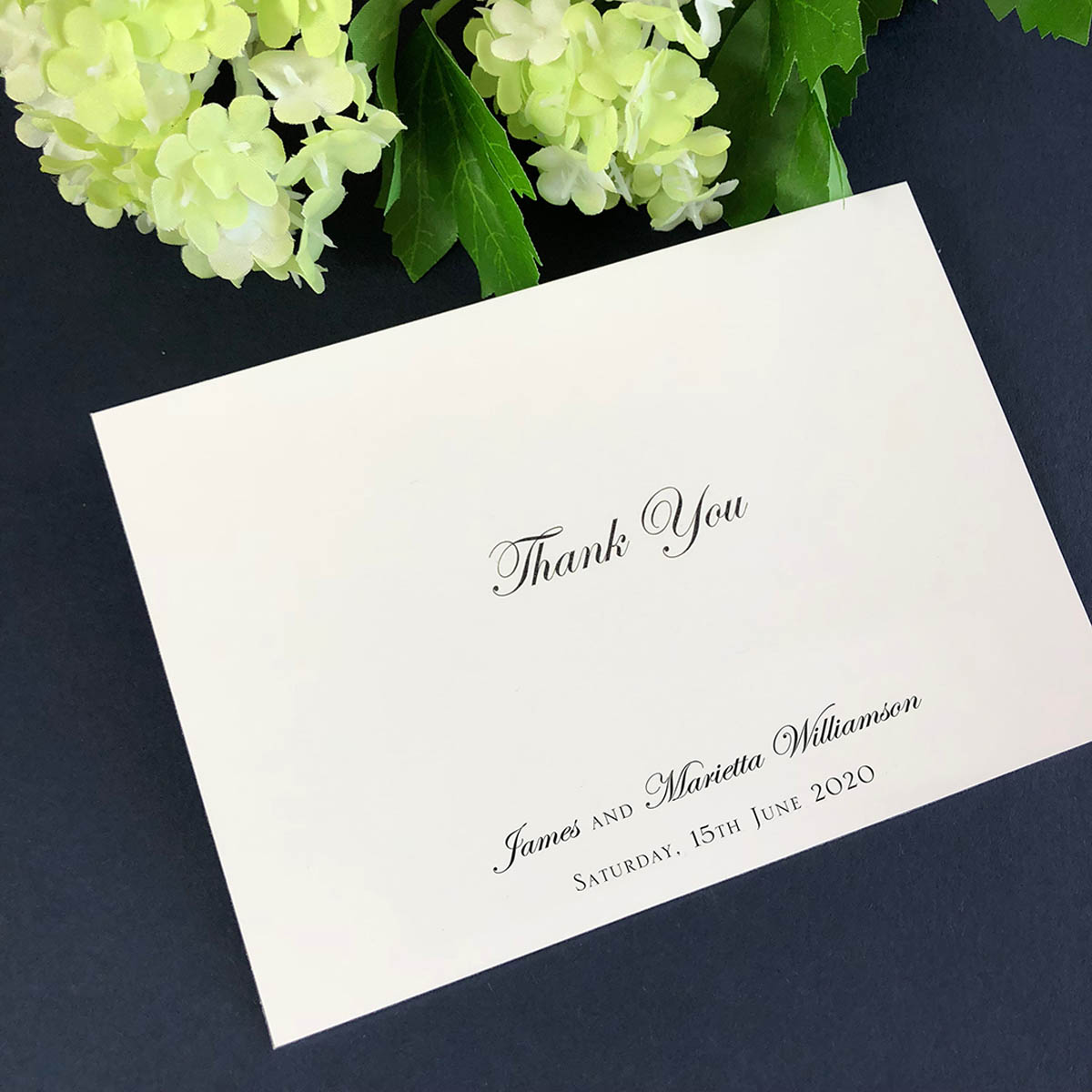 bespoke thank you card