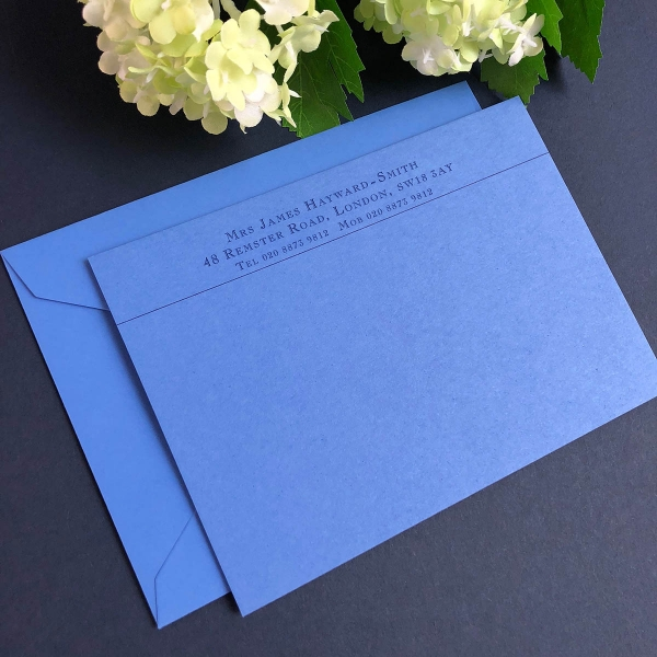 personalised correspondence cards