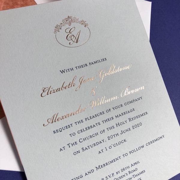 Richmond wedding invitations