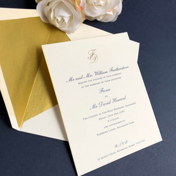 Charlwood wedding invitation