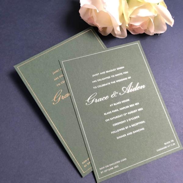 grace wedding invitations