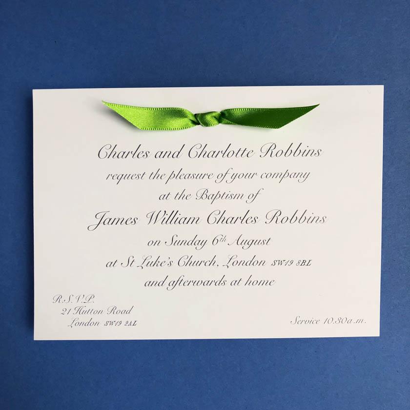 James baptism invitation