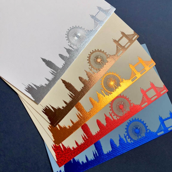 London Skyline notecards
