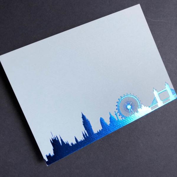 Blue London Skyline