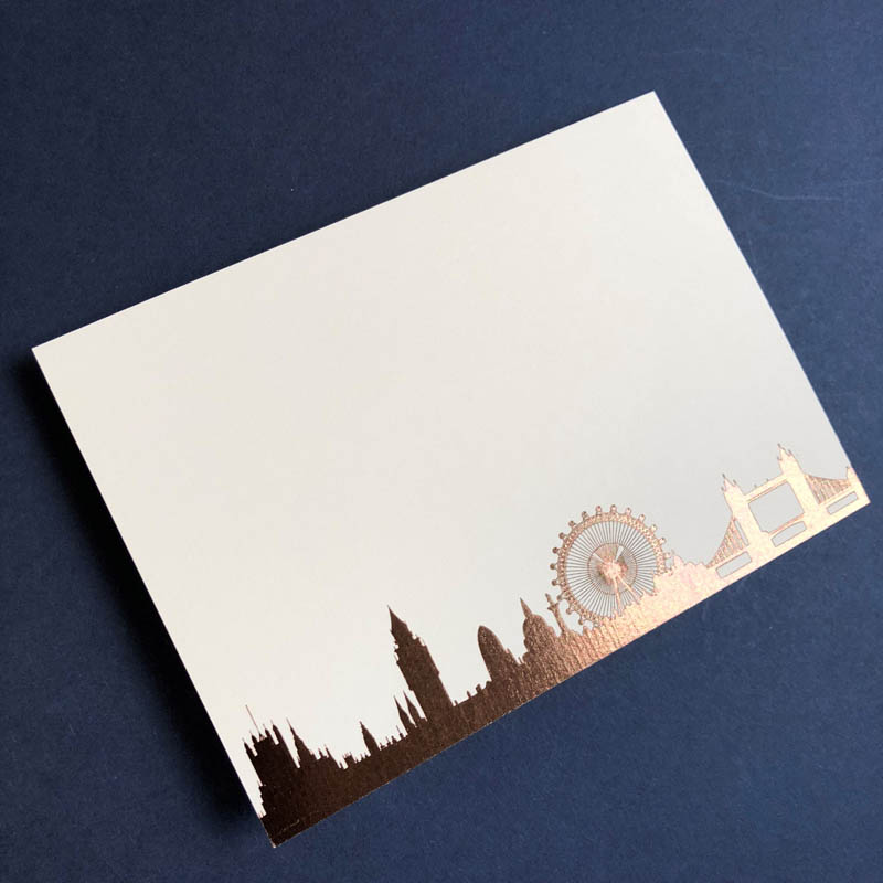 Bronze London Skyline notecard