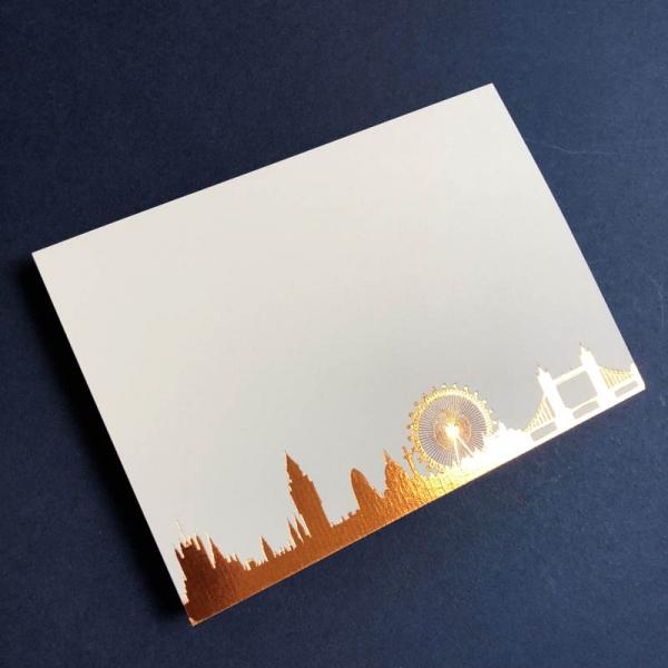 Copper London Skyline notecard
