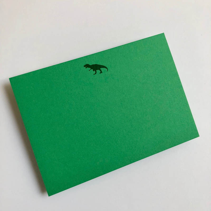 dinasaur notecard