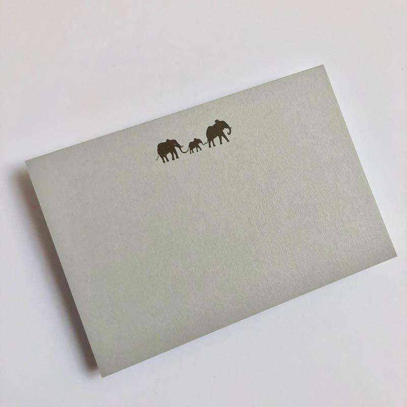 elephant family notecard