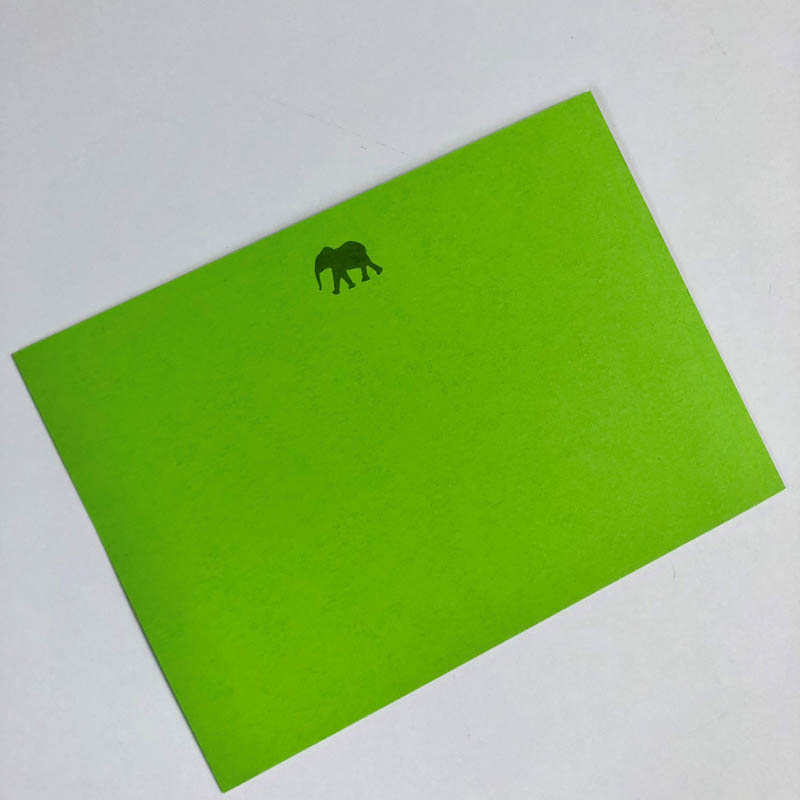 elephant notecard