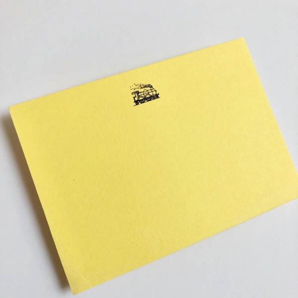train notecards