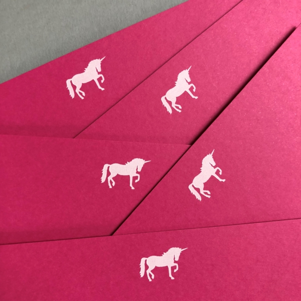 unicorns notecards