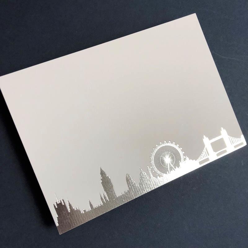 Silver London Skyline