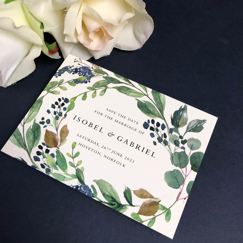 Isobel Save the Date card